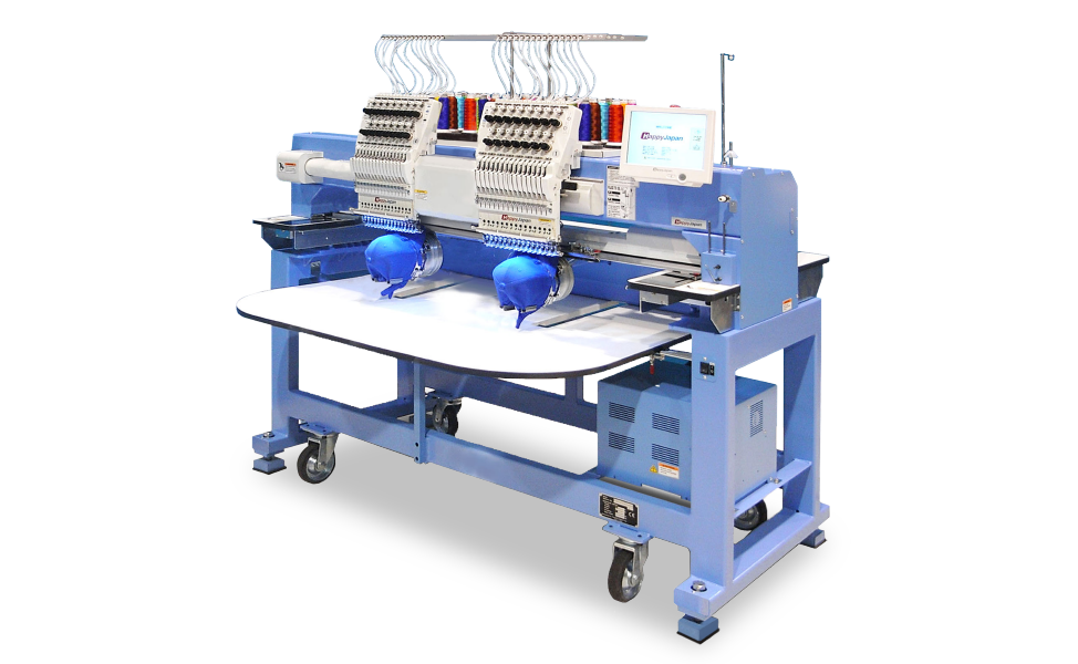 Happy Japan Multi-Head Embroidery Machine (Double Head 15 Needle) - Rand Asia Sdn Bhd