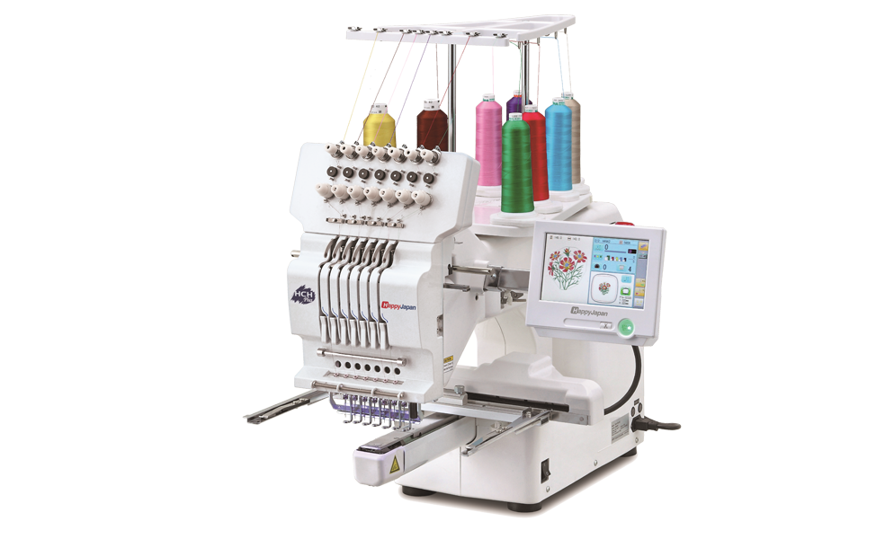 Happy Japan Compact Single Head Embroidery Machine