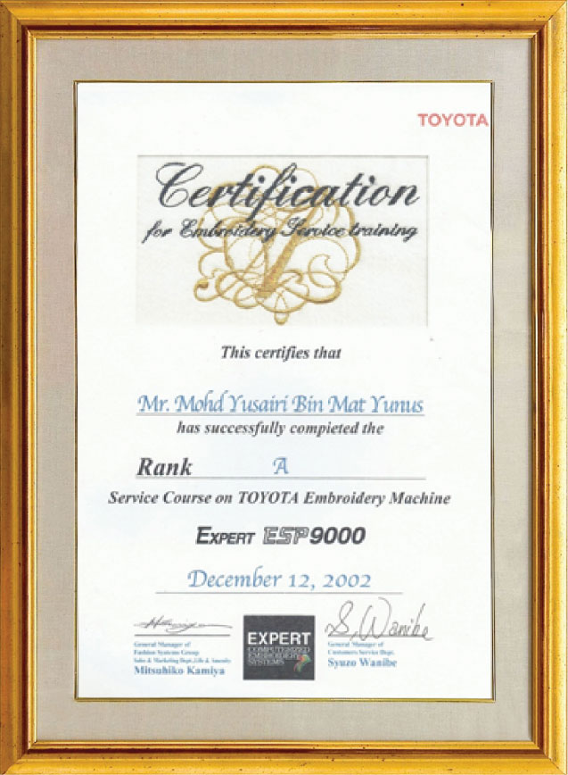 Rand Asia Certifications